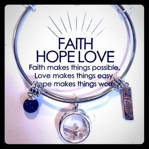 Stainless Steel Faith Hope Love Necklace